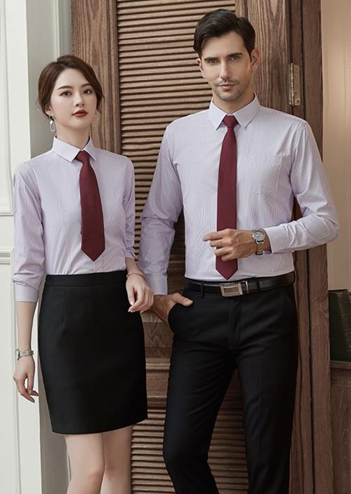 男女同款长袖衬衫定制