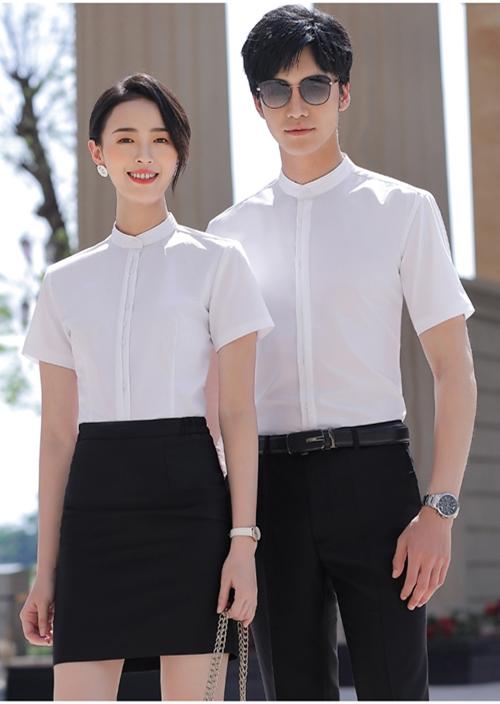 男女同款短袖衬衫定制