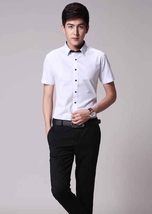 男士短袖衬衫定制