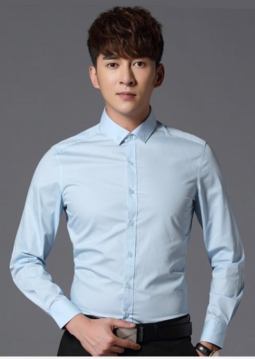 男士长袖衬衫定制